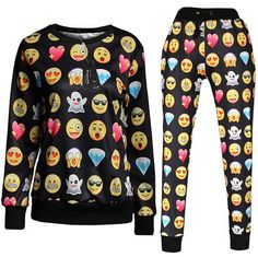 These Emoji PJ's are FREAKING AWESOME! Great gift, for you or somebody else! They're on sale and free shipping on some! http://whatagirlwantsxoxo.com/emoji-pjs/