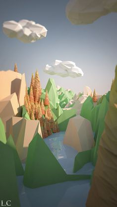 ArtStation - Low poly Autume, Lochlan Coull