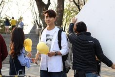 Touching You behind the scenes Ok Taecyeon, Touching You, Korean Drama, Sexy Men, Behind The Scenes, Handsome, Dramas, Cute, People