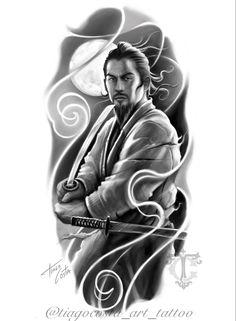Samurai Tattoo, Japanese Sleeve, Costa, Tattoo Ideas, Statue, Photo And Video, Tattoos, Movie Posters, Instagram