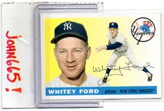 WHITEY FORD - 2011 60 YEARS OF TOPPS #186 (1955 TOPPS RP) NEW YORK YANKEES - FREE S/H