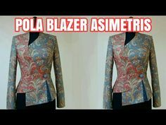 POLA KEBAYA DRAPERY - YouTube Kebaya Peplum, Blouse Batik Modern, Batik Blazer, Pola Lengan, Collar Kurti, Blazers, Kebaya Brokat, Dress Patterns, Sewing Patterns