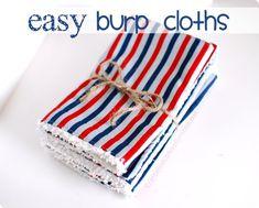 Super Easy DIY Burp Cloths