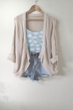 tank top top cardigan knitted cardigan shorts belt shirt sky clouds t-shirt cloud top blue white white clouds blouse coat chris brown sweater sky blue high waisted denim shorts tanish brown cotton sweater cardigan cotton sweater the fault in our stars jac