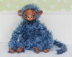 100$ + shipping, Monkey Fiki art doll ooak by iasio