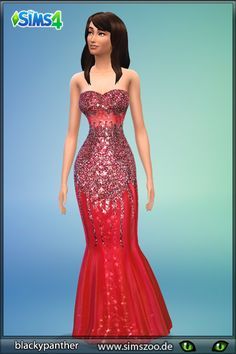 New formal dresses by Blackypanther at Blacky's Sims Zoo via Sims 4 Updates