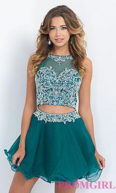 Blush Two Piece Homecoming Dress