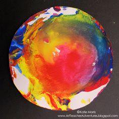 Adventures of an Art Teacher: Swirly Color Wheels for kindergarten