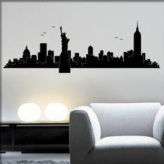 Amazing Wandtattoo Skylines von New York