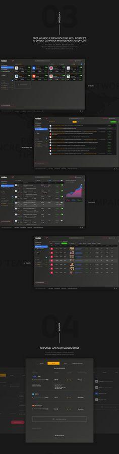 ROISTER UI Dashboard on Behance