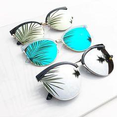 Adriana shades in gold, blue, and silver ✨ Noweekends.us #sunglasses #eyewear #fashion #summer