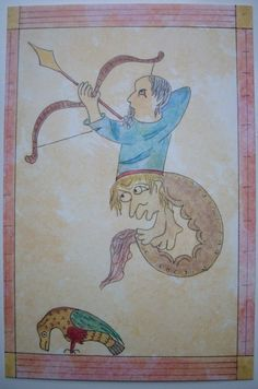 Medieval archer print illuminated manuscript art print via Early England Images. Click on the image to see more!