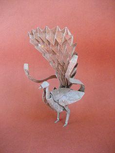 Lyrebird - Satoshi Kamiya Kids Origami, Origami And Kirigami, Paper Crafts Origami, Origami Animals, Paper Crafts For Kids, Origami Flowers, Origami Birds, Origami Artist, Japanese Paper