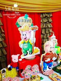 Three little pigs birthday party! See more party ideas at CatchMyParty.com!