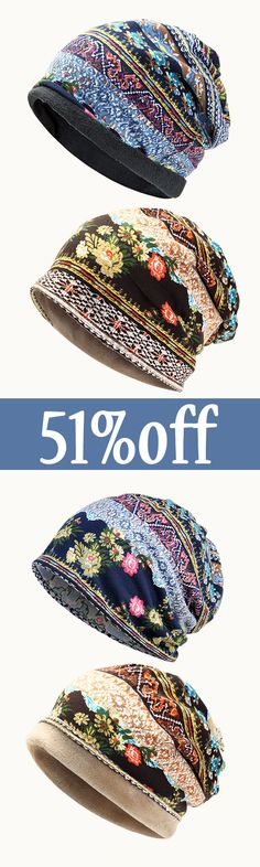 off&Free transport. Girls Cotton Flower Printing Beanie Hats Winter Multi-Use. Look Fashion, Winter Fashion, Womens Fashion, Fashion Face, Trendy Fashion, Girl Fashion, Böhmisches Outfit, Look Boho, Mode Outfits