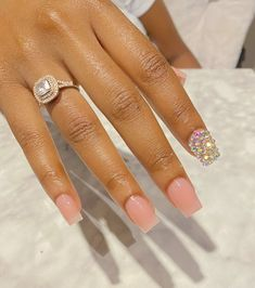 Short Square Acrylic Nails, Acrylic Nails Coffin Short, Simple Acrylic Nails, Best Acrylic Nails, Square Nails, Bling Acrylic Nails, Glam Nails, Beauty Nails, Fire Nails