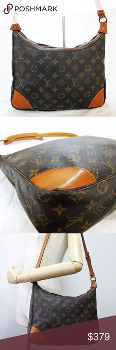 Authentic Vintage Louis Vuitton Boulogne Handbag Authentic Vintage Louis Vuitton Boulogne Shoulder Handbag Purse. Date code August 1989 in France, heat stamped 8908 A2 which won't photograph well but is located on the left side of the interior zipper pocket. Some pen markings on interior; exterior is in excellent condition. Interior zipper pocket had dry peel which has been removed. Shoulder strap has removable pad but I recommend leaving it on for comfort. Beautiful bag! Purchased from…