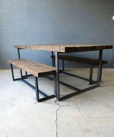 Reciclado Industrial Chic 6-8 plazas madera maciza por RccFurniture