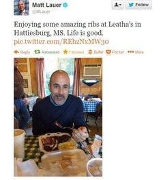 Matt Lauer in Hattiesburg Matt Lauer, Picture Albums, News Today, Life Is Good, Hero, Stars, Amazing, Pictures, Food