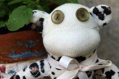 Cream Leopard, Animal Print Sock Monkey by TheVioletPincushion on Etsy