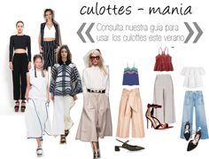 Guía para usar los pantalones culottes en verano
