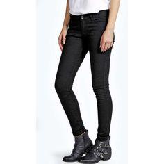Boohoo Alisa Jacquard Skinny Jeans ($10) ❤ liked on Polyvore