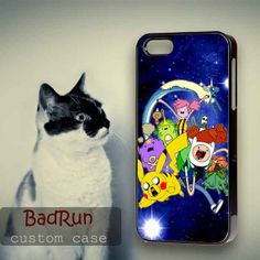Adventure Time Pokemon Nebula - iPhone cases 4/4S Case iPhone 5/5S/5C Case Samsung Galaxy S3/S4 Case