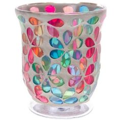 Mosaic Glass Candle Holder http://shop.crackerbarrel.com/Mosaic-Glass-Candle-Holder/dp/B00HMD54NQ