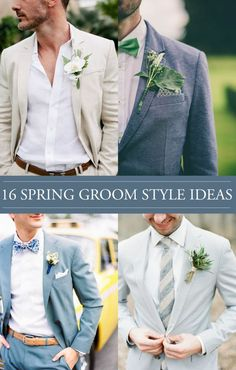 16 Spring Groom Style Ideas