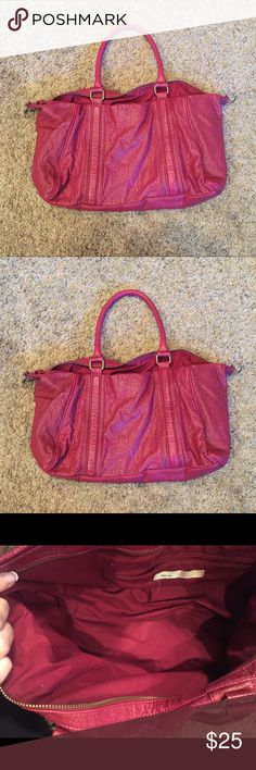 Urban Outfitters Purse Red/Maroon Urban Outfitters Purse, used a few times. It has been sitting in the back of my closet forever, so I decided to put on Posh! Lots of room! Urban Outfitters Bags Shoulder Bags