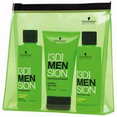 Charmant Kit de voyage avec shampoing et gel! Tout pour prendre soin de sa chevelure...  http://www.mencorner.com/p-travel-kit-homme-trio-indispensable-schwarzkopf-professionnel-homme-18534-3.html