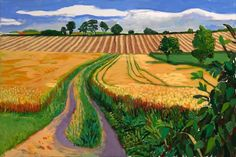 viewpoint - David Hockney, A Year in Yorkshire on ArtStack David Hockney Landscapes, David Hockney Art, David Hockney Paintings, Abstract Landscape, Landscape Paintings, Spring Landscape, Pop Art Movement, Arte Pop, Oeuvre D'art