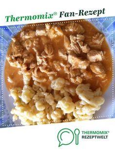 Curry Geschnetzeltes von meusterin. Ein Thermomix ® Rezept aus der Kategorie Hauptgerichte mit Fleisch auf www.rezeptwelt.de, der Thermomix ® Community.