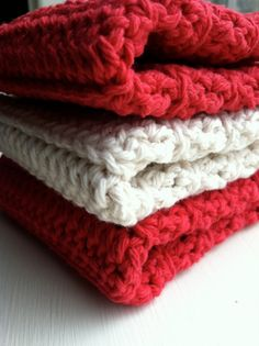 Sweetheart Valentine Crocheted Cotton Dishcloths