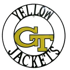 Georgia Tech Yellow Jackets 18-Inch Wrought Iron Wall Décor, Multicolor