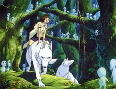 Visit the Real Princess Mononoke Forest - Visit the Real Princess Mononoke Forest - Hayao Miyazaki, Totoro, Sac Tods, Kodama Tattoo, Princess Mononoke Wallpaper, Mononoke Forest, Studio Ghibli Films, Pictures Of Princesses, Real Princess