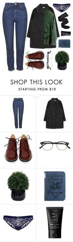 """""""I WANT YOU TO STAY WITH ME"""" by wi-fi-li-fe ❤ liked on Polyvore featuring Topshop, MM6 Maison Margiela, Lux-Art Silks, NARS Cosmetics, Fogal, women's clothing, women, female, woman and misses"""