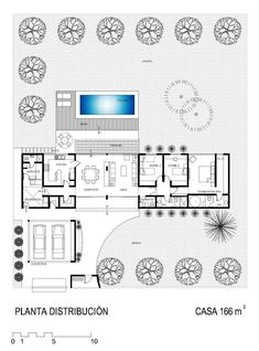 Discover recipes, home ideas, style inspiration and other ideas to try. Pool House Plans, Dream House Plans, Modern House Plans, Small House Plans, Minimalist House Design, Modern House Design, Home Design Plans, Plan Design, Building Plans