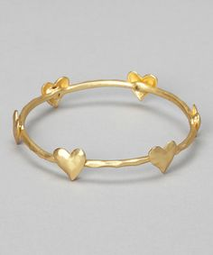 Take a look at this Gold Heart Bangle by Marlyn Schiff on #zulily today!