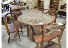 wagon wheel tables | wagon wheel kitchen table