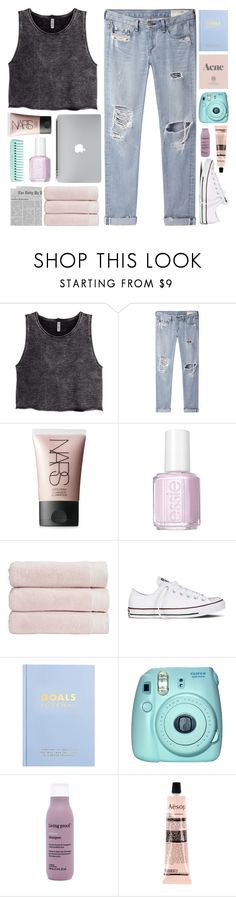 """For your eyes only, I'll show you my heart"" by happinesspeaceandlove ❤ liked on Polyvore featuring H&M, rag & bone/JEAN, NARS Cosmetics, Essie, Christy, Converse, kikki.K, Fuji, Living Proof and Aesop"