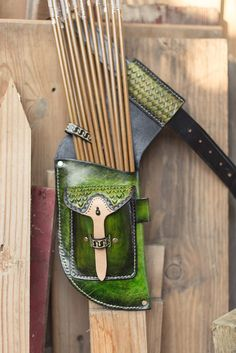 Leather Archery Field Quiver by Choirbox on Etsy, sold. Archery Gear, Archery Equipment, Bow Hunting, Hunting Gear, Mounted Archery, Archery Supplies, Archery Accessories, Medieval Furniture, Recurve Bows