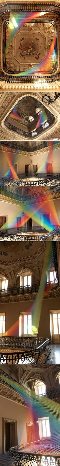 Como, Italy - unbelievable thread installation by Mexican artist Gabriel Dawe