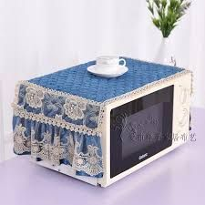 Korean style home textile Microwave oven cover Machine protector Fabric cloth with bow quality yarn lace edge Oven Hood, Washing Machine Cover, Diy Buttons, Shabby Chic Kitchen, Microwave Oven, Kitchen Sets, Table Covers, Sewing Table, Home Textile