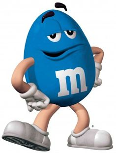 """""""M & M's"""" ~~~ Blue (nickname is Mr Cool) stated at a recent press conference...'it's never too dark to wear sunglasses'...but some people suspect that was a 'cover up'...for not wanting to melt in the heat of Las Vegas... M M Candy, Candy Art, Blue Candy, Ms Blue, Love Blue, Aqua Blue, Rapunzel Birthday Cake, Baby Birthday, Birthday Cakes"""