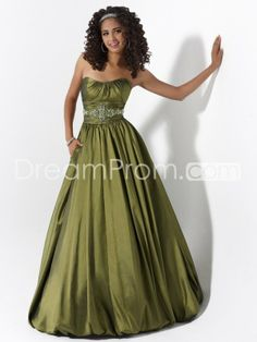 A-Line Strapless Floor-Length Lace-up Dresses