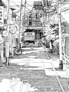 Manga Style Line Drawing by GomJabber.
