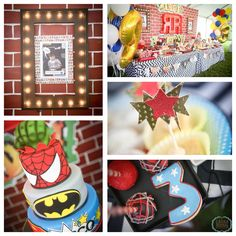 Urban Superhero themed 3rd birthday party via Kara's Party Ideas