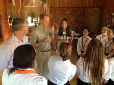 April 22, 2014 - A moment these NT students will never forget! Talking sport, school and snakes with the Royal Couple
