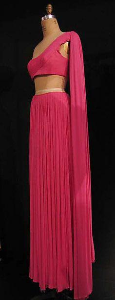Evening dress Madame Grès (Alix Barton) (French, Paris 1903–1993 Var region)  Date: 1967 Culture: French Medium: silk. Sideway
